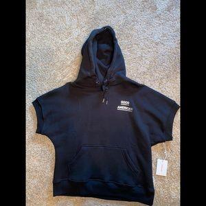 Good American Activewear short sleeve hoodie